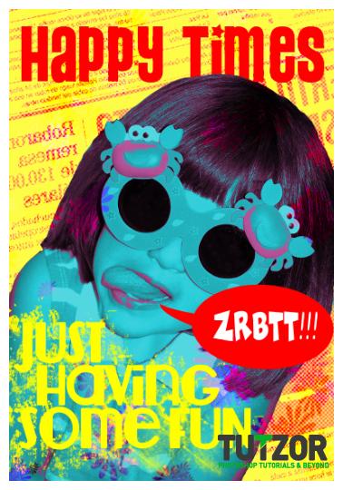 design a colorful pop art poster in photoshop tutzor. Black Bedroom Furniture Sets. Home Design Ideas