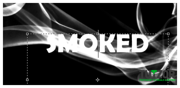 how to create smoke text effect in photoshop