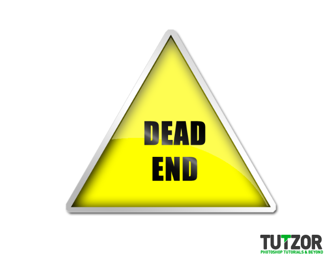 Create a Glossy Dead End Road Sign Icon in Photoshop | Tutzor